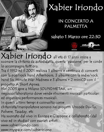 Xabier Iriondo in concerto a palmetta – 01mar08
