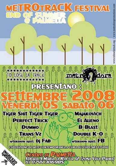 metrotrack festival * ven 5 sab 6 settembre * palmetta