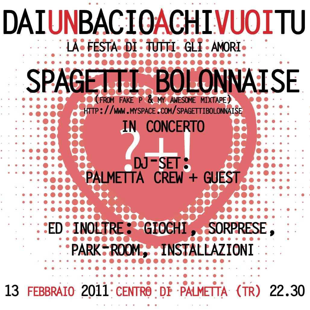 DAIunBACIOaCHIvuoiTU – Spaghetti Bolonnaise in concerto
