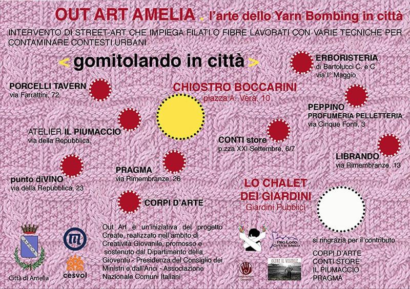 OUT ART AMELIA L'arte dello Yarn Bombing in città