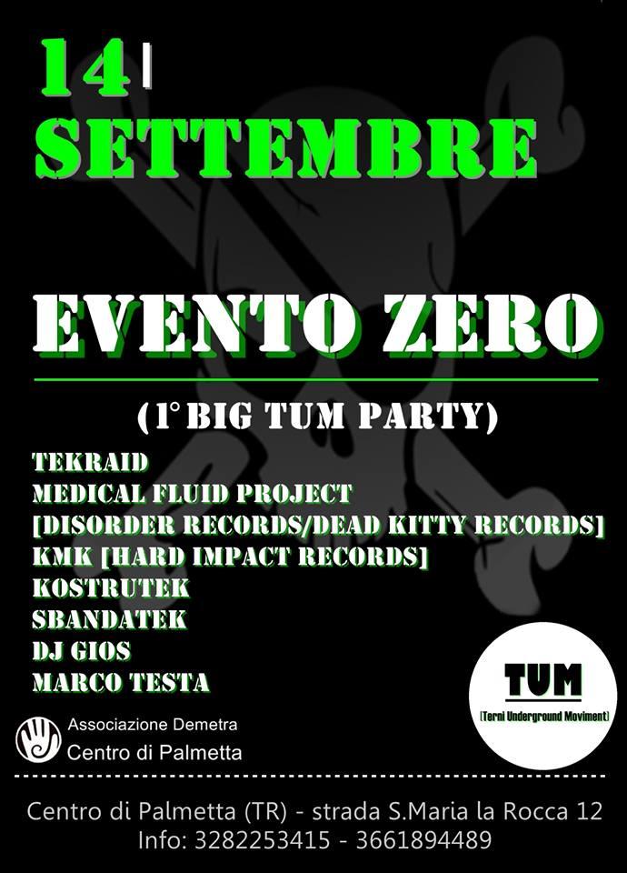 EVENTO ZERO – 1° BIG TUM PARTY